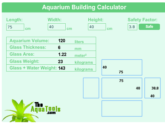 Unsure about glass thickness | Tropical Aquariums SA